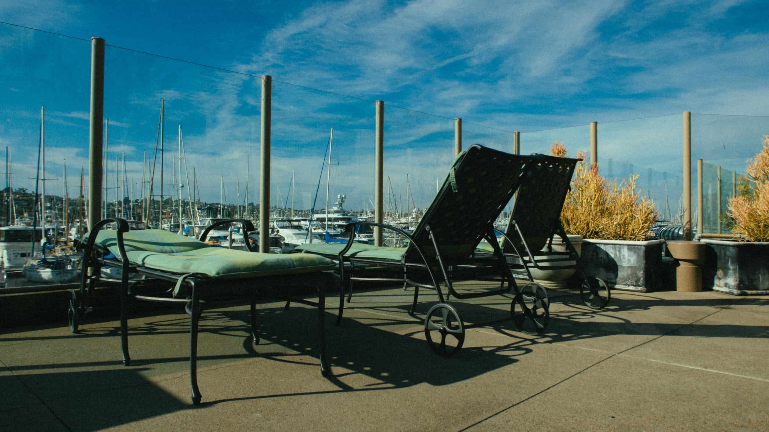 patio furniture exposed to salty air
