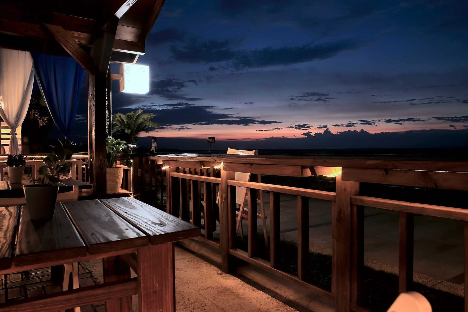 cool patio furniture on a balcony