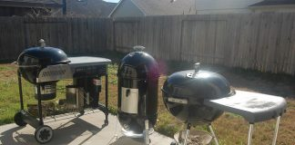 A trio of Weber grills