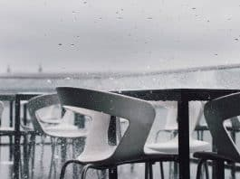 patio furniture in rainy weather