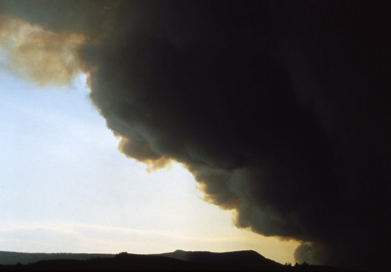 black smoke (not coming from a patio heater)