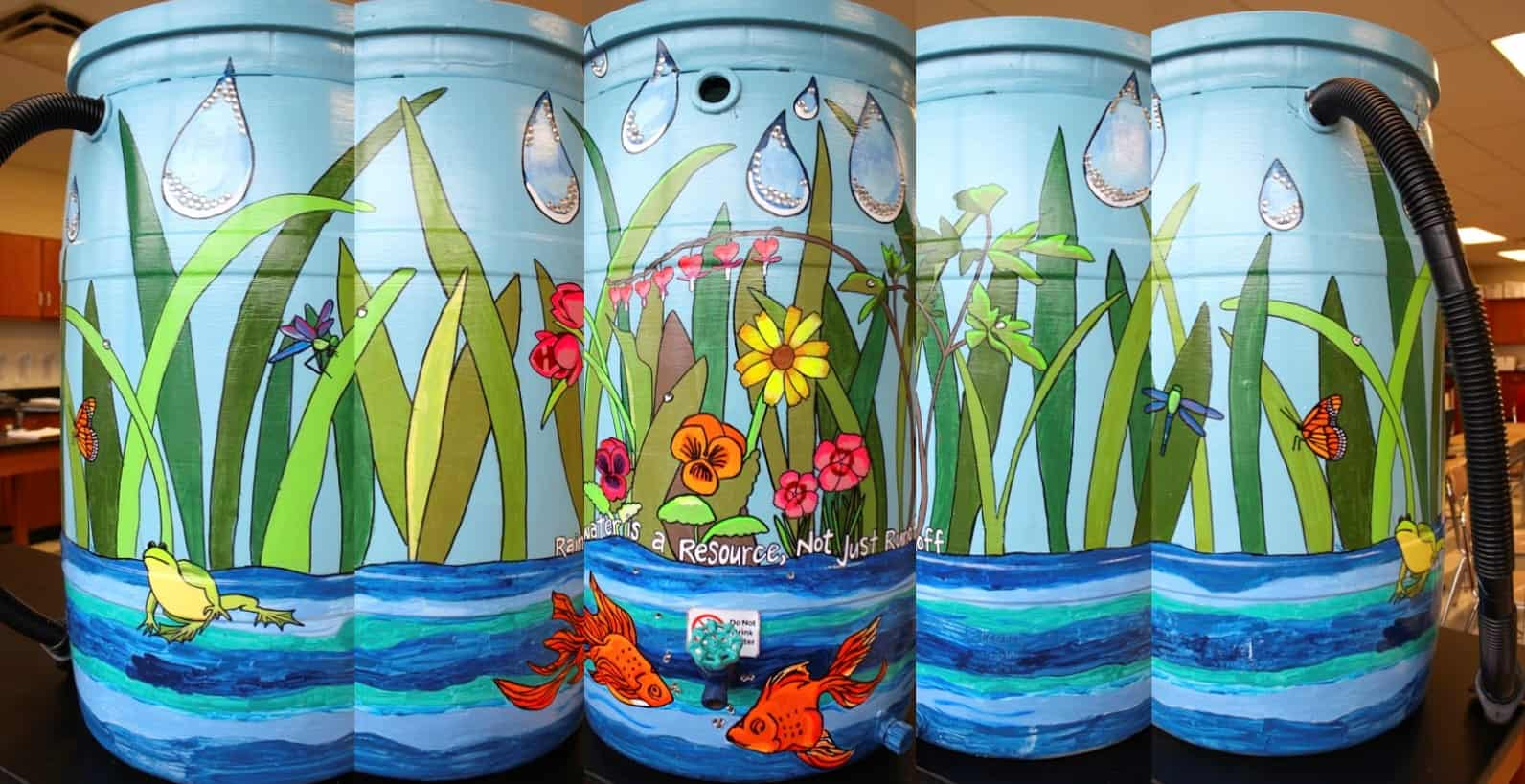 personalized rain barrels