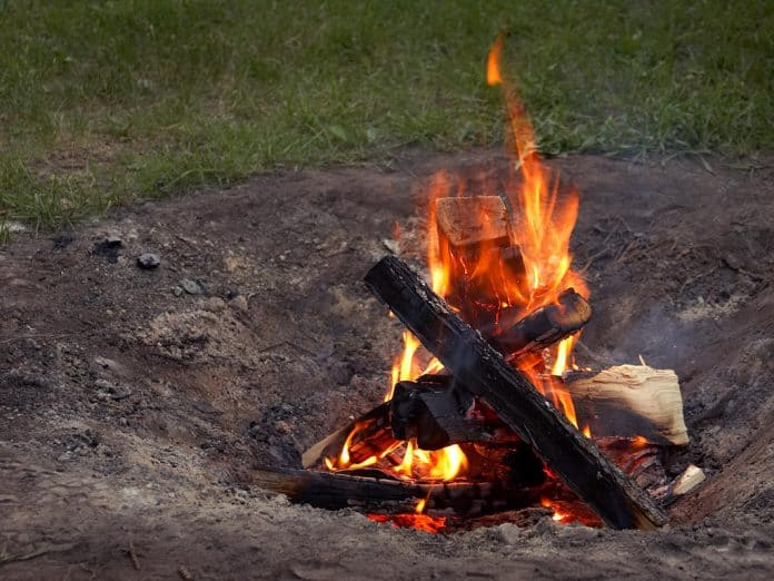 you can build or buy a smokeless fire pit