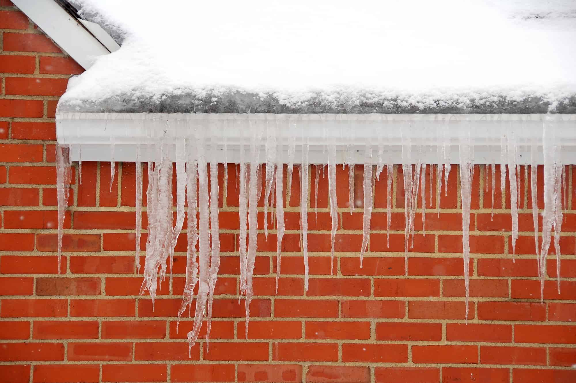 icicles hanging from gutters